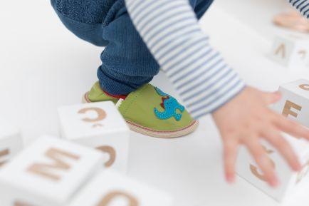 Kindergarten slippers rolly toddler dino