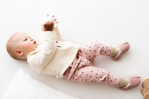 Rolly baby winter pink slippers 2
