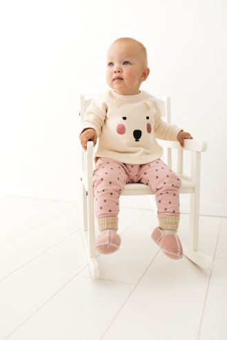 Rolly baby winter slippers rolly pink
