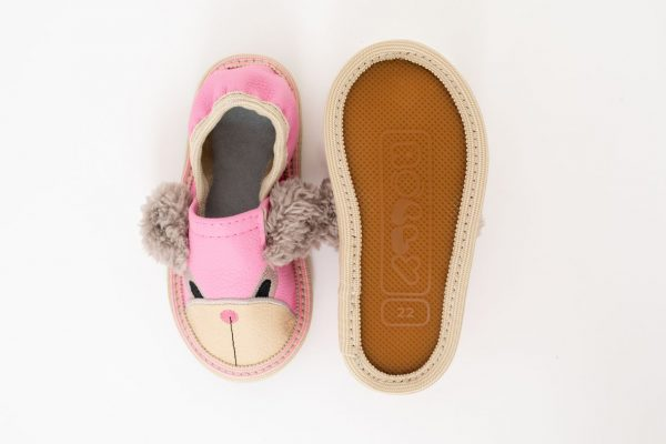 Rolly slippers for kindergarten toddler teddy bears pink girls outsole