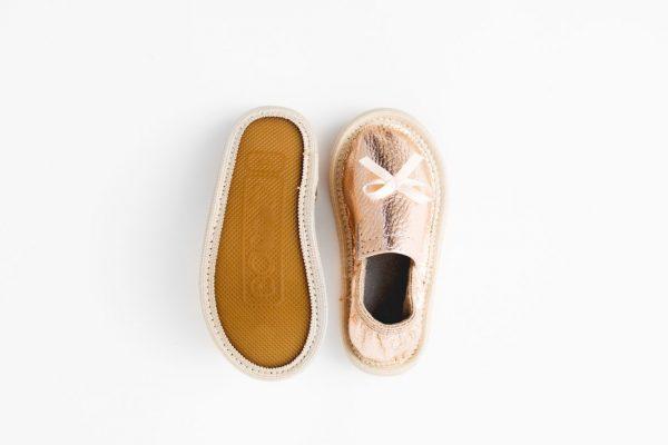 Rolly toddler girl rose gold kindergarten slippers