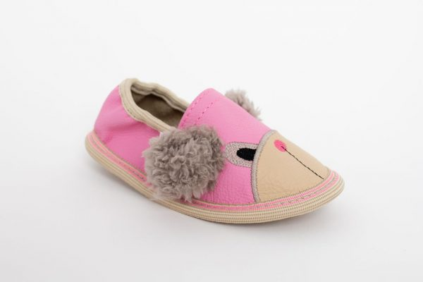 Rolly toddler kindergarten slippers pink teddy bears