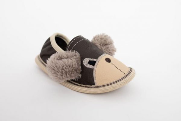 Rolly toddler slippers for kindergarten brown teddy bears