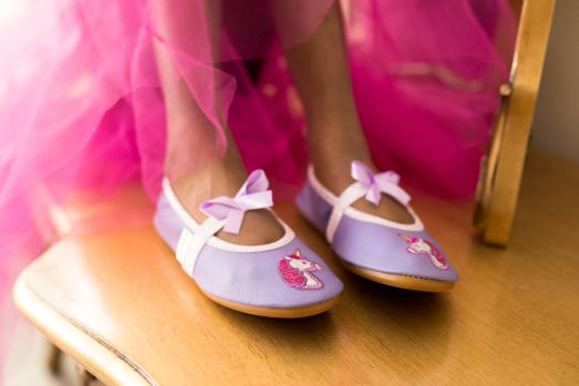 Rolly unicorn school slippers girls 2
