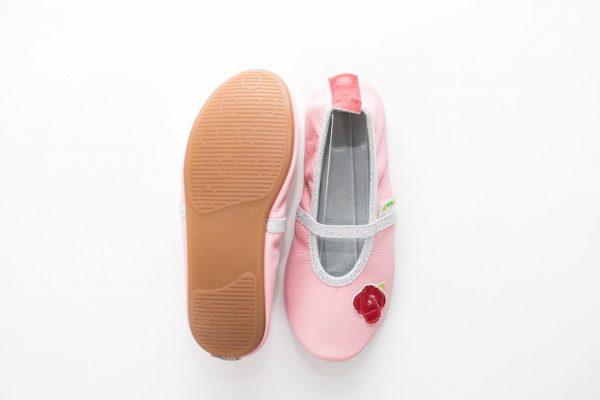 School slippers beauty rose nonslip sole