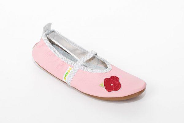 School slippers beauty rose pink girls