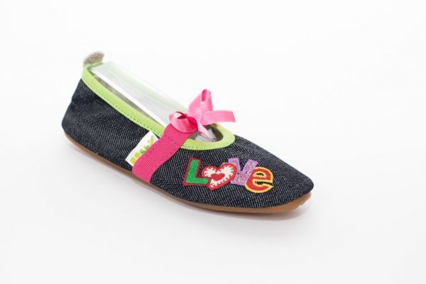 School slippers girls jeans love 1