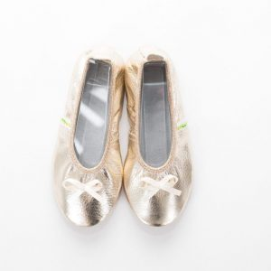 School slippers gold ballerina girls