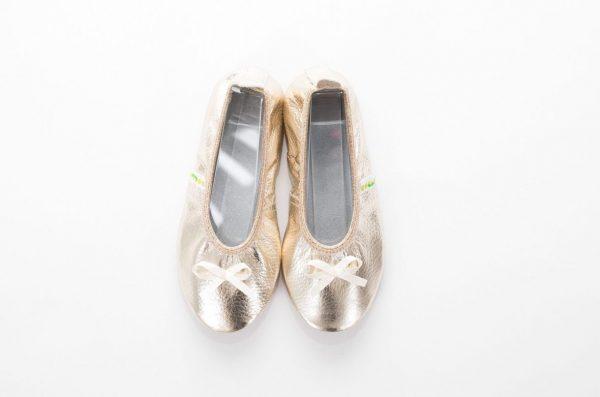 School slippers gold ballerina girls