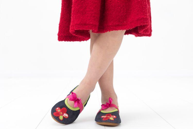 School slippers rolly jeans flower girls 1