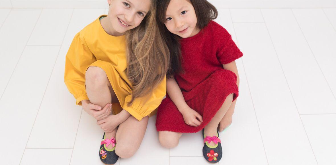 School slippers rolly jeans girls