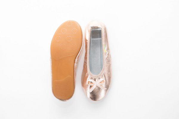School slippers rose gold ballerina nonslip outsole