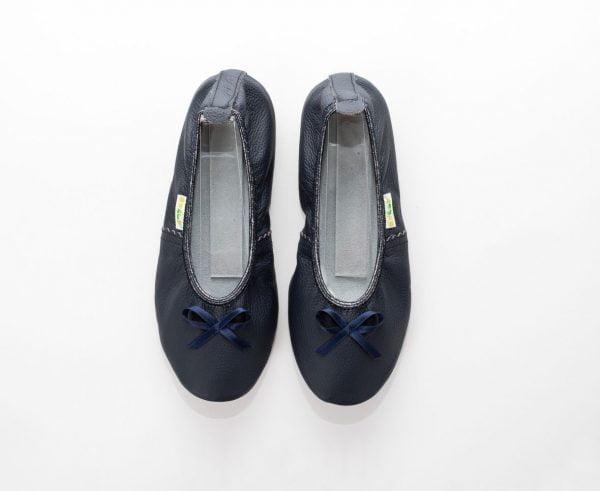 School slippers teen girls navy blue