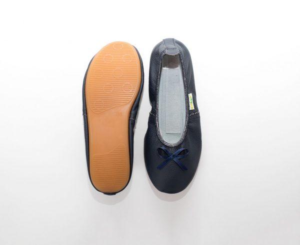 School slippers teen navy blue girls nonslip sole