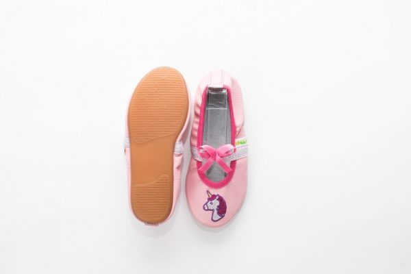 School slippers unicorn pink rolly nonslip sole