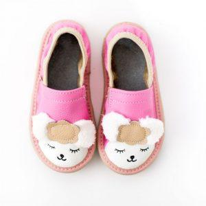 Toddler lamb rolly kindergarten slippers pink