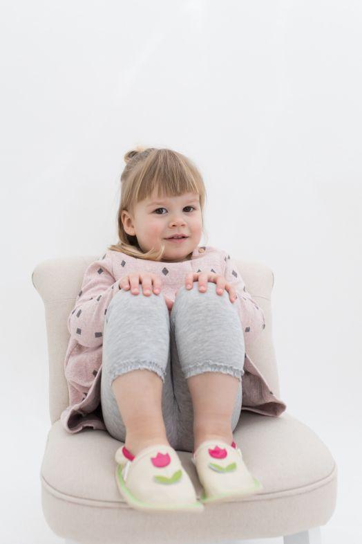 Kindergarten toddler slippers rolly girl pink