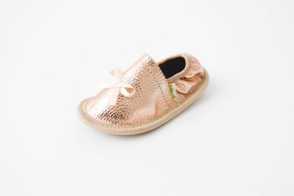 Toddler Rose Gold   Rolly Slippers