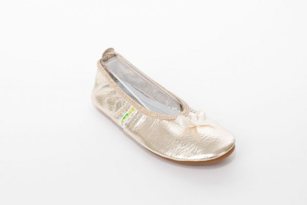 Rolly school slippers ballerina gold girls rolly