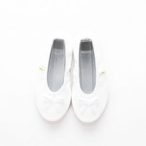 Rolly school slippers white ballerina