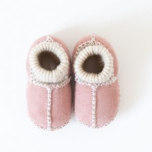 Rolly slippers baby winter pink