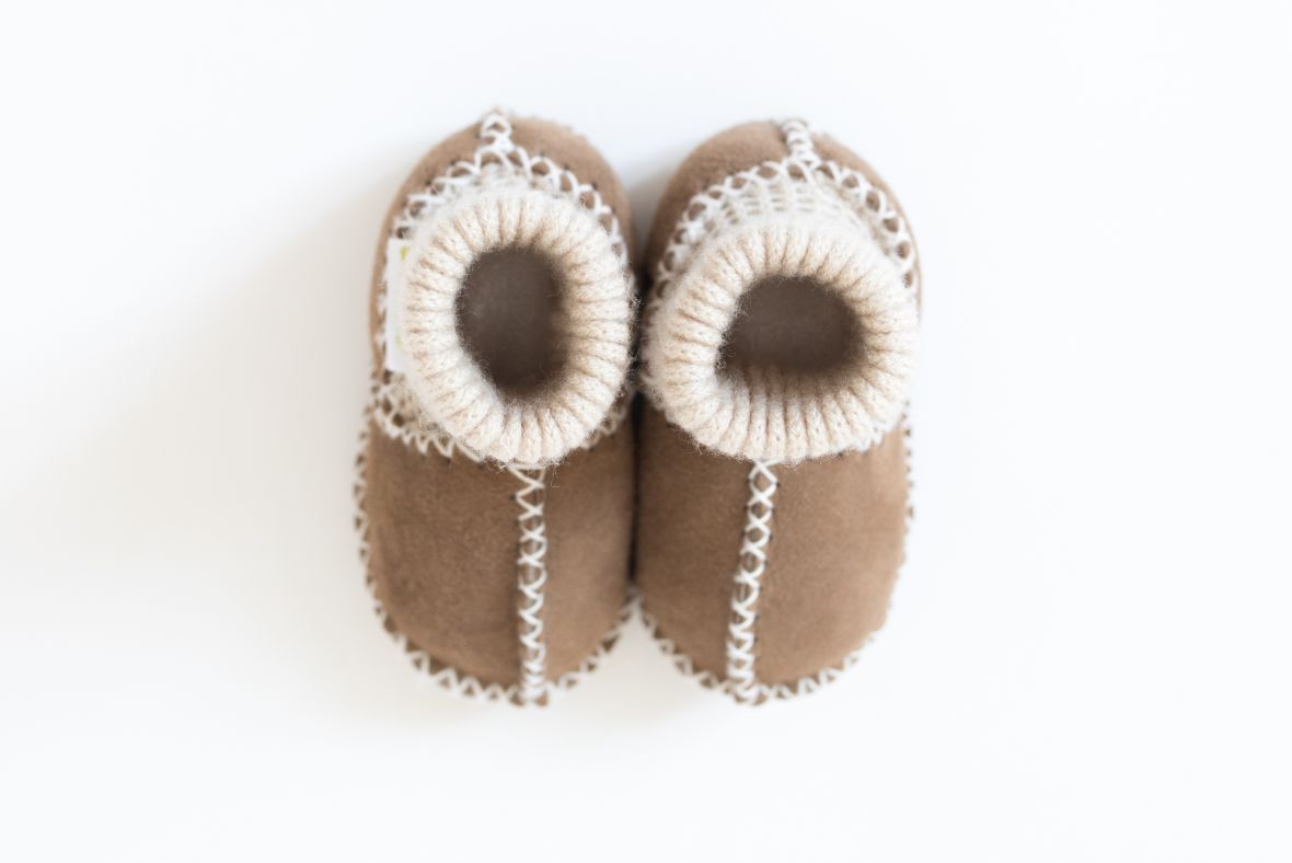 Rolly slippers brown boys baby winter