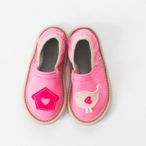 Rolly slippers for kindergarten pink toddler girl 1