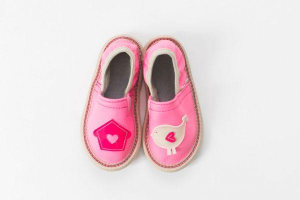 Rolly slippers for kindergarten pink toddler girl 1