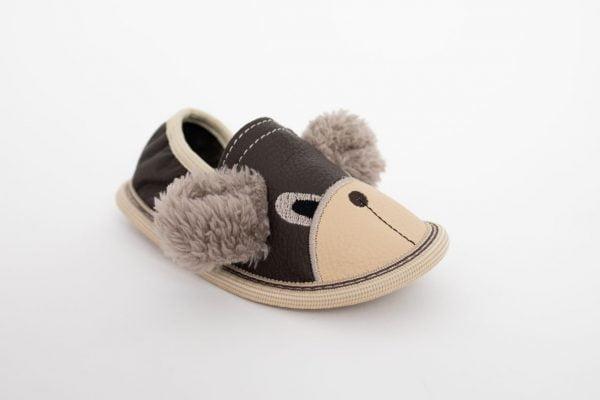 Rolly toddler slippers for kindergarten brown teddy bears