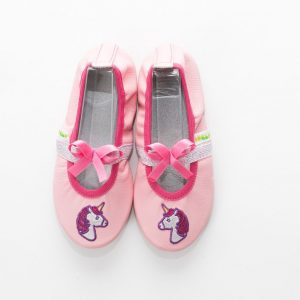 School slippers pink unicorn