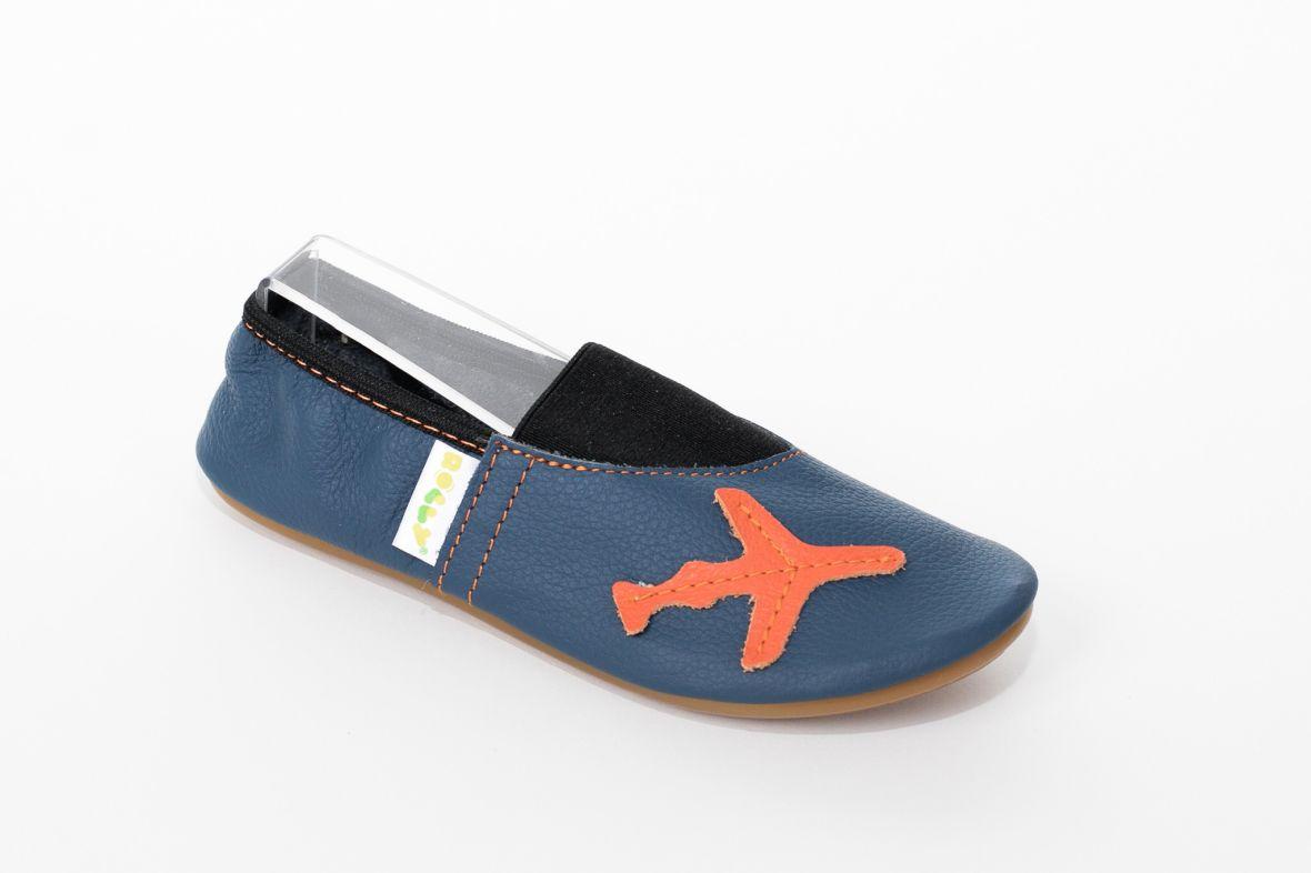 School slippers smile plane boys