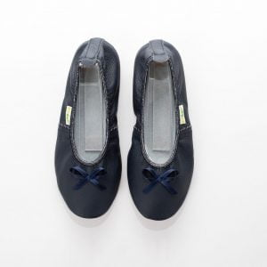 School slippers teen girls navy blue