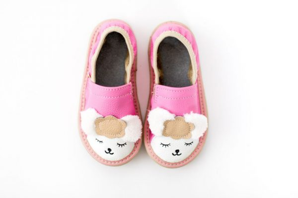 Toddler lamb rolly kindergarten slippers pink