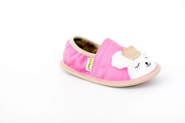 Toddler lamb rolly slippers for kindergarten pink