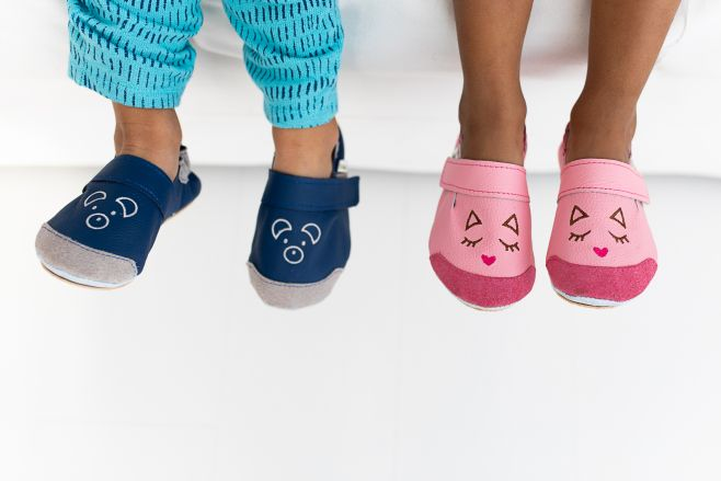 Rolly slippers toddler mini bunny from leather 2