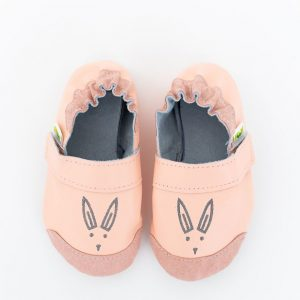 Rolly slippers toddler mini bunny light orange nonslip