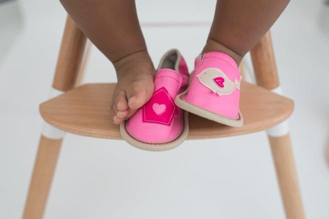 Toddler rolly leather slippers kindergarten